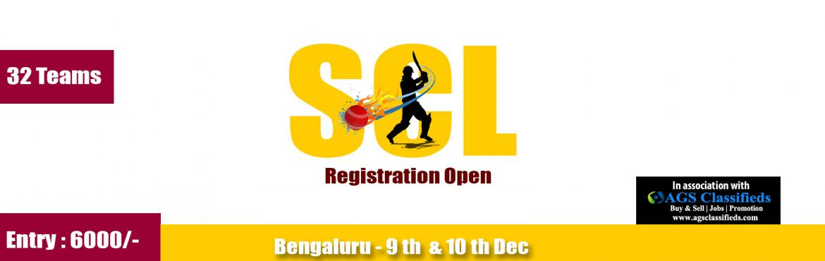 Book Online Tickets for SCL TENNIS BALL CRICKET TOURNAMENT, Bengaluru. General Information:  1. SCL Tennis Ball Cricket Tournament  2. There will be limited no of registrations in the tournament. 3. All the matches will be of knock out format. 4. All pre semi final matches will be played 8 over a side. Semi Fi