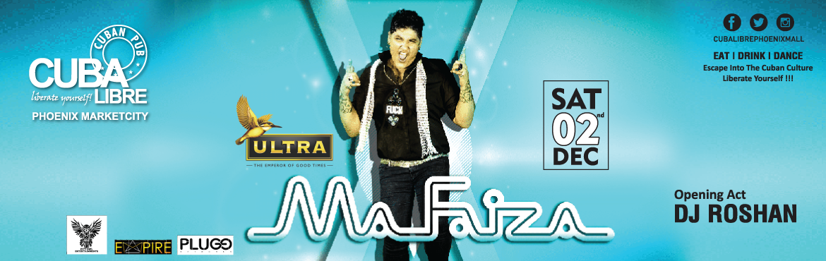 Book Online Tickets for SENSATIONAL SATURDAY FT.MAFIZA, Pune.     The gigantic Saturday Dec 02 calls all for a great experience with the sensational *DJ MAFAIZA* to hit the floor with entwined tunes supported with ballistic drops with Dj Roshan a brilliant ambiance and stunning bar offers, Cuba L