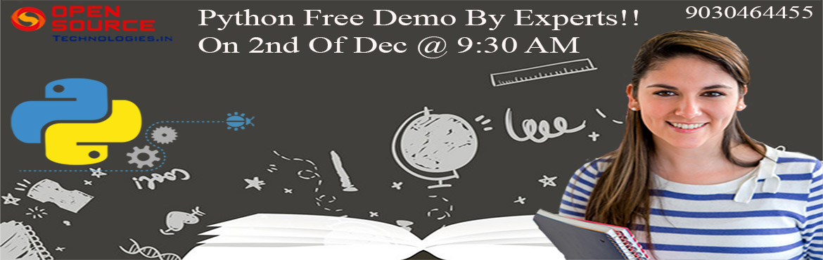 Get Enrolled For The Free Demo On Python By The Industry Experts On 2nd Dec At 9:30 AM.