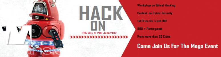 HackOn 2012 | A  National Level Cyber Security Challenge