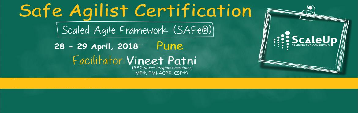 Book Online Tickets for SAFe Agilist Certification V4.5 Pune Apr, Pune. The SAFe® Agilist certification is especially designed for agile leaders, project, program and portfolio managers who work in a scaled agile set-up. The SAFe Agilist certification program is for executives, managers and Agile change agents respon