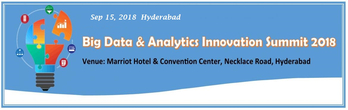 Book Online Tickets for Big Data and Analytics Innovation Summit, Hyderabad. The Big Data & Analytics Innovation Summit provides a platform for industry leaders and academic experts to deliver case studies, expertise and share unique insight into the rapidly emerging movement: the power to forecast the future with t