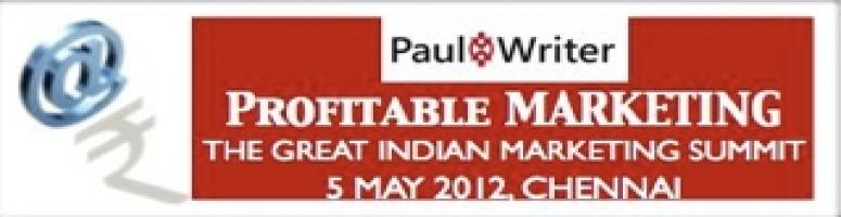 Book Online Tickets for  PAUL WRITER - THE GREAT INDIAN MARKETIN, Chennai.                                          &nbs