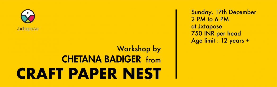 Book Online Tickets for CRAFT PAPER NEST by Chetana Badiger, Hyderabad. Who knew so much could be done with paper? Join Chetana Badiger from Craft Paper Nest and learn and enjoy making art that you never thought would be possible all while recycling paper!   + Old newspapers and magazines.+ Acrylic paints.+ Fevicol.