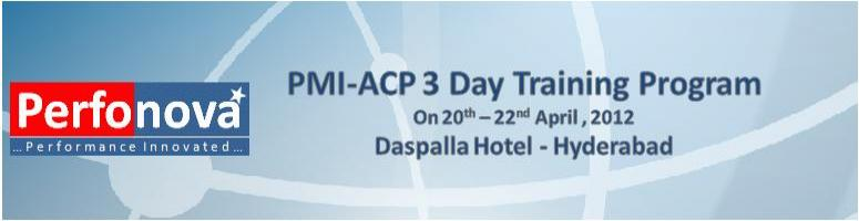 PMI-ACP  3 Day Training Program at Hyderabad