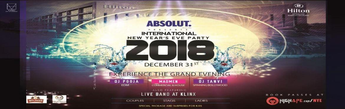 Absolut presents International New Years Eve Party 2018