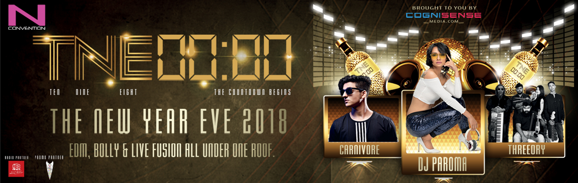 Book Online Tickets for TNE 00:00 The New Year Eve 2018 at N-Con, Hyderabad. Cognisense Media brings to you A New Year Experience like never before. Spend your #NewYearsEve lavishly and with #Style. They proudly present to you \'TNE 00:00 - The New Year Eve 2018\' A musical journey blended right with an outstanding sound &amp