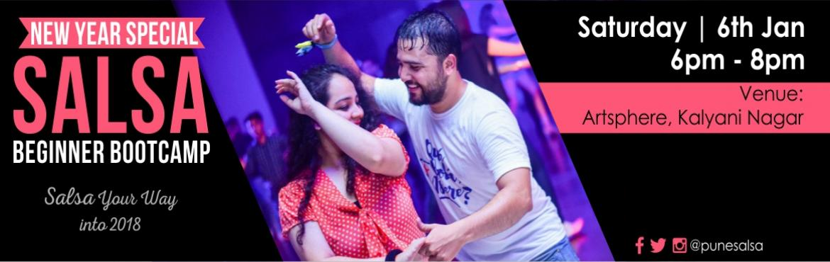 Book Online Tickets for SALSA BEGINNER BOOTCAMP_Kalyani Nagar_6t, Pune. Salsa Your Way into 2018 with Our New Year Special 2 Hours SALSA Beginner Bootcamp. Date: 6th Jan 2018 (Saturday)Time: 6pm to 8pmVenue: Artsphere Pune, 402, Fourth Floor, North Court Building, North Avenue Road Number 12, Near Jogger\'s Park, Ab