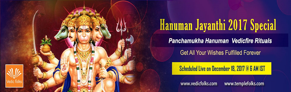 Book Online Tickets for Hanuman Jayanthi 2017, Chennai. Get All Your Wishes Fulfilled Forever Nothing can match the power of Lord Hanuman and now it's time for his birthday on 15th day of Shukla Paksha during the Tamil month of Margazhi and this year it falls on December 18, 2017 that's observ