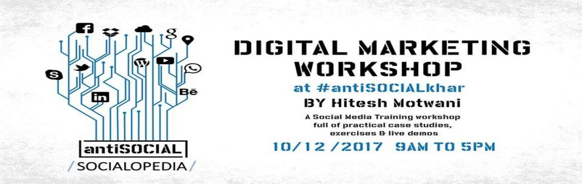 One Day digital Marketing workshop where we will teach you how to market your brand on Facebook, Twitter    YouTube