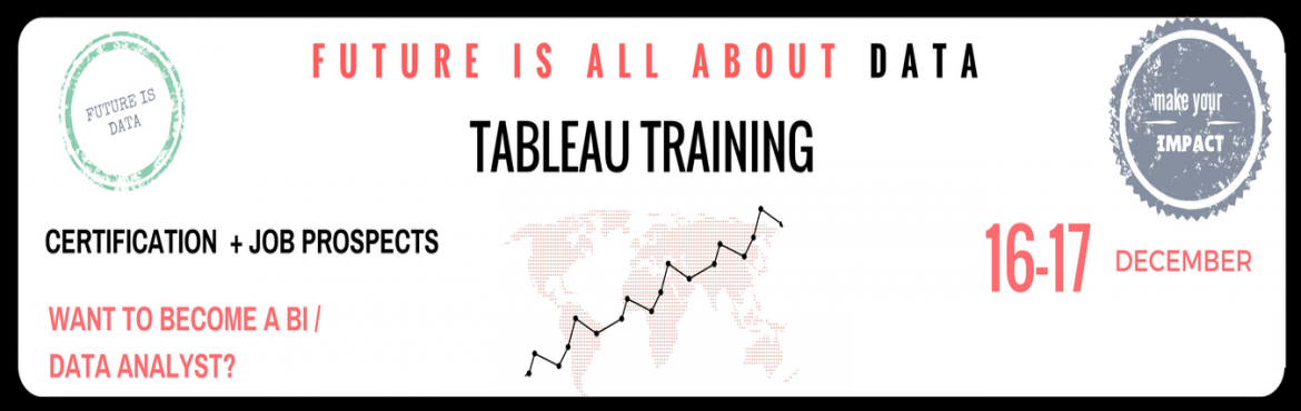 Tableau Training @ Bangalore. Tableau 2 day complete Hands- On training with Job Prospects