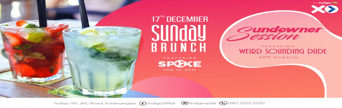 Book Online Tickets for Sunday Brunch Sundowner and Techno Night, Bengaluru.  Just because the weekend is coming to a close doesn\'t mean we stop raging on! Join us on Sunday at Indigo XP for our Sunday Brunch & Sundowner. Soak in the atmosphere at the upper-deck of Indigo XP where you can chill out at our open-to-sk