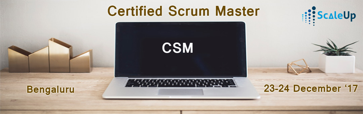 Book Online Tickets for CSM Certification, Bangalore 23 Dec 2017, Bengaluru. ACertified ScrumMaster®is well equipped to use Scrum, an agile methodology to any project to ensure its success. Scrum's iterative approach and ability to respond to change, makes the Scrum practice best suited for projects with