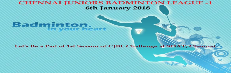Book Online Tickets for Chennai Juniors Badminton League 2018, Chennai. 1st Edition of The Chennai Juniors Badminton League (CJBL) 2018 Challenge is here on 6th January 2018. It\'s an Indoor Badminton Tournament at Sports Development Authority of Tamil Nadu, Nehru Park, Chetpet, Chennai.  Categories: Girls U-11 Singles &