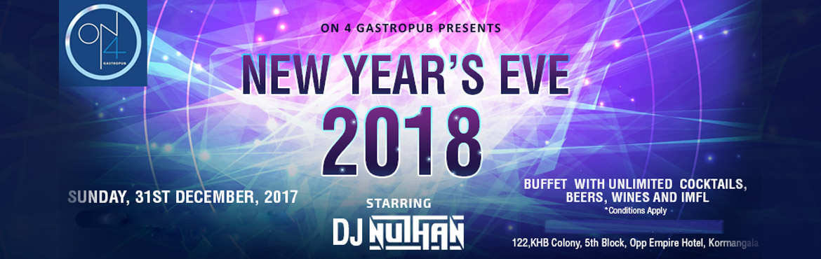 ON4 New Year Bash 2018 with DJ Nuthan