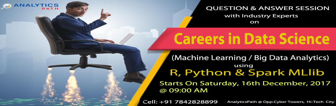 Join Free Data Science Interactive Session Scheduled At Analytics Path On 16th Dec @ 9 AM and Enroll For New Weekend Batch On Same Day @ 11:30 AM.