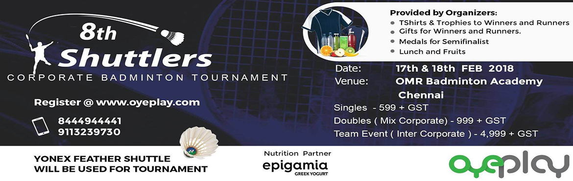 8th Shuttlers Corporate Badminton Tournament
