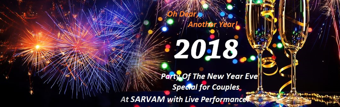 Book Online Tickets for Party Of The New Year Eve Special for Co, New Delhi.   Description:-   ​Rs.4500/- for NYE Party Package for Couple with UNLIMITED IMP + IMFL Drinks with choice of Continental, Indian, & Chinese Cuisines served in Buffet style + Live -- D