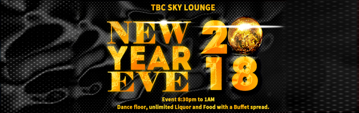 Book Online Tickets for New year Eve at TBC SKY LOUNGE, Bengaluru.  New year\'s Eve at TBC SKY LOUNGE, with DJ Bharat and DJ Yogesh. Dance floor, unlimited Liquor and Food with a Buffet spread