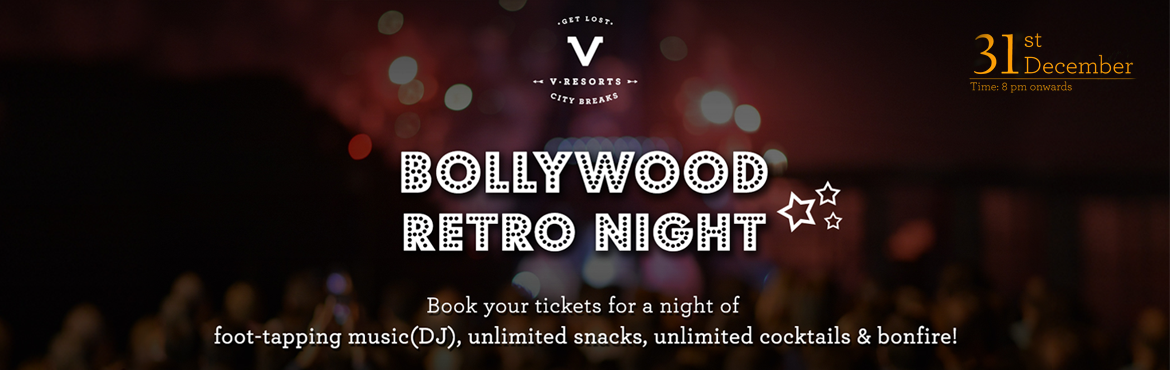 "Book Online Tickets for New Year Bash 2017 _  Bollywood Retro Ni, New Delhi.    Polka-dotted kurtas as bright as a ""Kashmir Ki Kali"" and bell-bottoms that leave the bottoms and the on-lookers' mouths equally wide-open. This new year, go retro with V Resorts, Bollywood style!      Gather those big, blingy acc"
