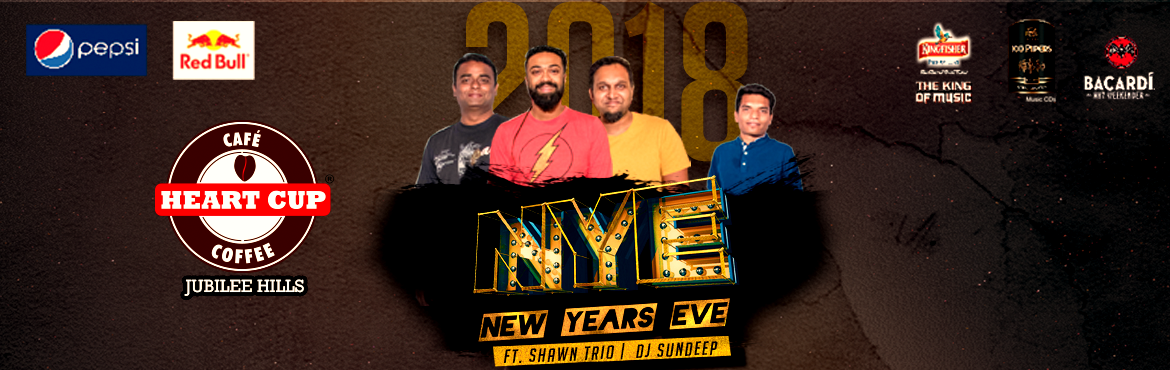 Book Online Tickets for New Year Party 2018 @ Heart Cup Coffee, , Hyderabad. What better way to bid adieu to 2017 and welcome the New Year with fantastic artists and unlimited food, drinks, and fun? Celebrate the most awaited evening of December with us at Heart Cup Coffee. At HCC Jubilee Hills, we\'ve got the amazing band Sh