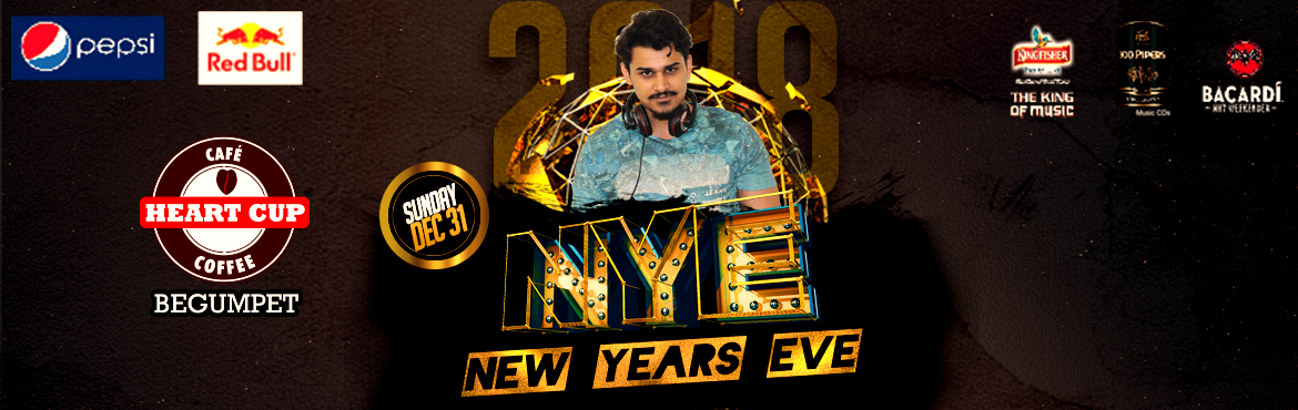 Book Online Tickets for New Year Party 2018 @ Heart Cup Coffee, , Hyderabad. What better way to bid adieu to 2017 and welcome the New Year with fantastic artists and unlimited food, drinks, and fun? Celebrate the most awaited evening of December with us at Heart Cup Coffee.  DJ Altrawzeus is at HCC Begumpet, bringing the hous