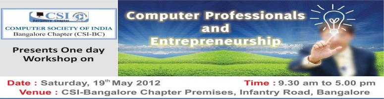 Book Online Tickets for Workshop on Computer Professionals and E, Bengaluru. About the Workshop: 