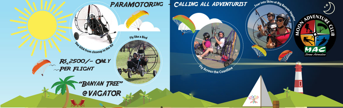 Book Online Tickets for Para motoring Joy Rides in GOA, Vagator.