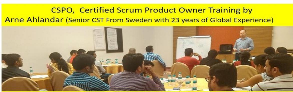 Book Online Tickets for Certified Scrum Product Owner (CSPO) Wor, Gurugram.  About CSPO Workshop by Arne Ahlandar (Senior CST with 23 years of Global Experience)   CSPO Workshop Highlights  This 2-day Product Owner Certification Training will prepare participants for mastering the most difficult role in S