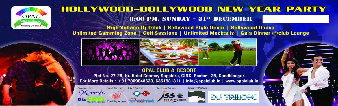 """Book Online Tickets for Hollywood Bollywood New Year Party, Gandhinaga. """"Come and live the new year party with us, live an unforgettable 31st and memorable January 1st like never before in the best party of the year."""" """"Don't miss the opportunity to welcome the New Year in the best way. Do not miss"""