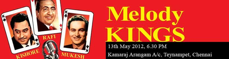 Book Online Tickets for Melody Kings (Teen Maharathi), Chennai. They have charmed generations of listeners with their dulcet voices and changed the very face of Indian cinema. Their songs are so popular with both the older and the newer generation that even to this day we often hear someone merrily humming the tu