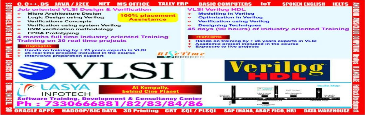 Book Online Tickets for Free Demo on VLSI  Job Oriented Module @, Hyderabad.    Very-large-scale integration (VLSI) is the process of creating an integrated circuit (IC) by combining thousands of transistors into a single chip. VLSI began in the 1970s when complex semiconductor and communication technologies we