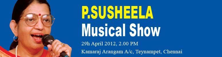 Book Online Tickets for P Susheela Melody Nite, Chennai. P. Susheela or the \\\