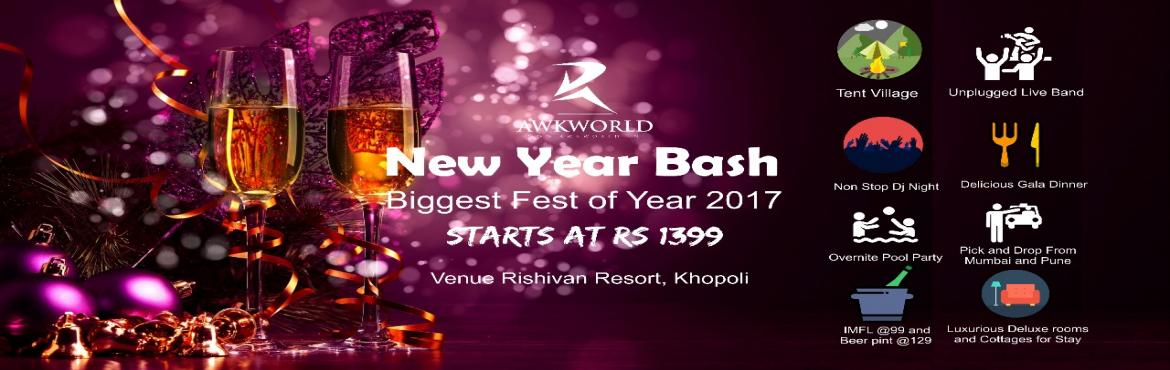 """Book Online Tickets for Awkworld  present New year Bash , Pune. """"Strangers are friends Just We Havent Met yet.."""" This New Year Bash is to prove above Quote.. We Gonna Meet Hundreds of New friends from all the part of India and Welcome Year 2018 Together.. Evening is Designed such way to make you feel"""