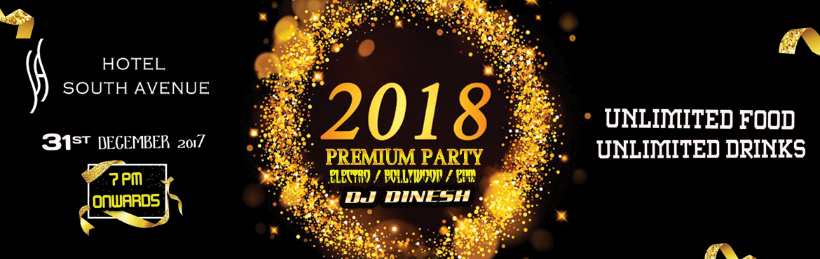 Book Online Tickets for Premium Party NYE 2018 @ Hotel South Ave, Pondicherr. PREMIUM PARTY 2018 @ Hotel South Avenue South Avenue hotel, Pondicherry bringing you another premium event, 2nd year in a row, our team look forward to meeting you and delight you party people with our service @ PREMIUM PARTY2018 join us.