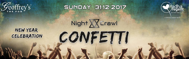 Confetti Year Party 2018 @ Radha Regent- Geoffrey Pub