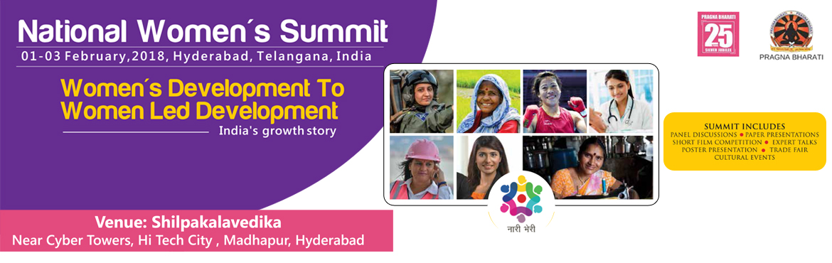 Book Online Tickets for National Womens Summit 2018, Hyderabad. National Women\'s Summit..! How often do you exchange a business card with another businesswoman or a fellow women professional?  How often do you get a chance to network and interact with other women in a professional environment? How often do