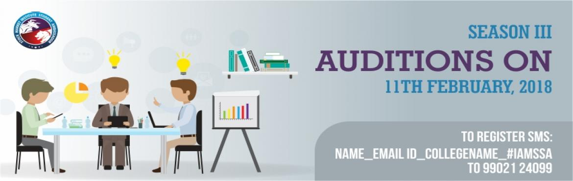 Book Online Tickets for Student Ambassador Auditions, Bengaluru. Student to Ambassador- A platform nurturing via exposure. Our Story: SSA: Stock Market Institute Student Ambassador. Its a community for students, where we train them in this externship to be an Ambassador to spread financial literacy. Our Mission: S