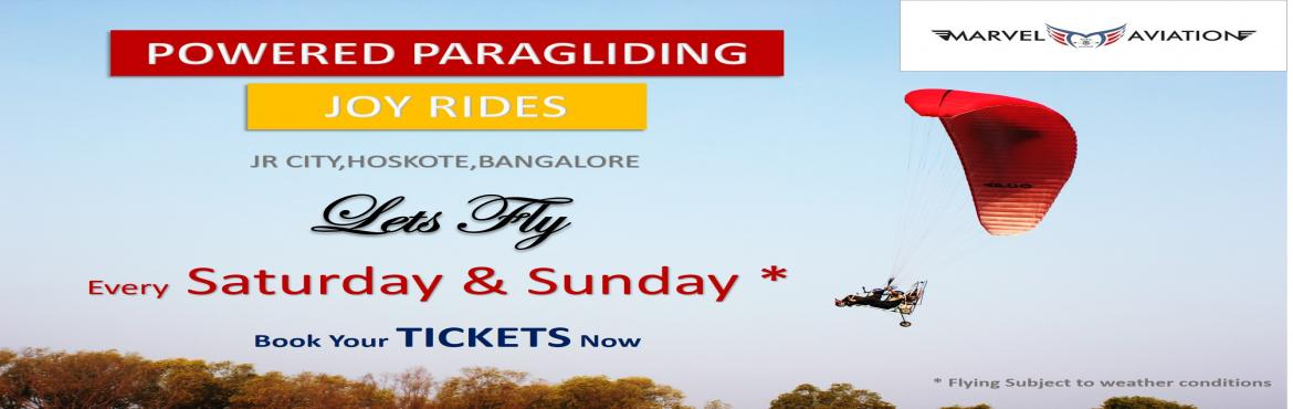 Book Online Tickets for Powered Paragliding In Bangalore, Bengaluru. Powered paragliding will get you acquainted to the freedom of flying along with the birds and take in the view of nature like never before.  Soar at 700 ft above altitude to feel the fresh breeze.  Fly with the certified pilot to experien