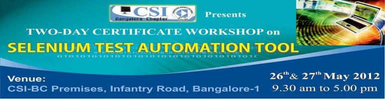 Two Day Certificate Workshop on Selenium Test Automation Tool