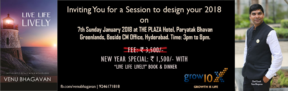 Book Online Tickets for Live Life Lively, Hyderabad. https://www.facebook.com/events/147421319310617/ This is an event to set goals with the help of \