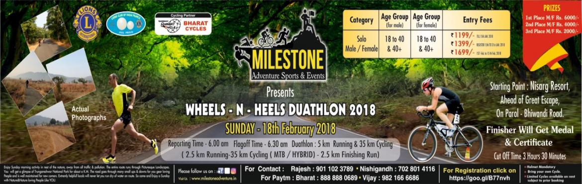 Book Online Tickets for Tilher duathlon, Virar. 2.5 KM Running-35 KM Cycling-2.5KM Running.Enjoy sunday morning activity in the nest of nature,away from all traffic and pollution.The entire route runs through picturesque landscape.you will get a glimpse of tungareshwar national park for abou