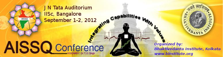 7th All India Students Conference on Science and Spiritual Quest - 2012