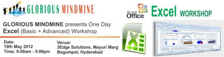 One Day Workshop on MS Excel (Basic+Advance) @ Begumpet Hyderabad on 19th May 2012