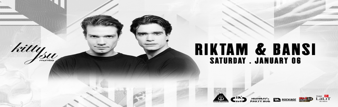 Book Online Tickets for Saturday Night- Riktam and Bansi, Mumbai. Look who am I bringing on the first Saturday of January Riktam & Bansi- it\'s going to be no less than a joy ride for dance music lovers. You may have never experienced something like this before - so better be there!    COUPLES & G