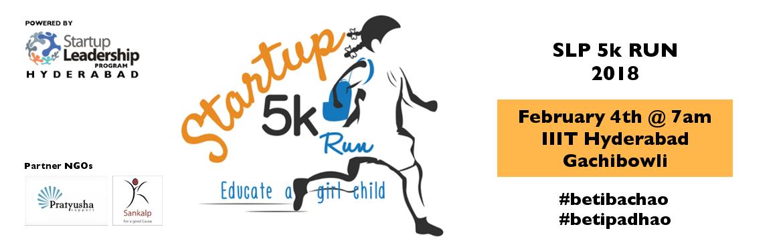 Educate a girl child - Startup 5k Run by SLP Hyderabad