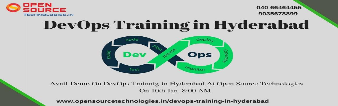 Book Online Tickets for Acquire Knowledge In The Dynamic Career , Hyderabad. Acquire Knowledge In The Dynamic Career Profession Of DevOps By Enrolling For Open Source Technologies DevOps Free Demo On 10th Jan @ 8 AM. Attend For The Free Demo on DevOps On 10th Of Jan At 8 AM Under The Supervision Of Experts At Open S