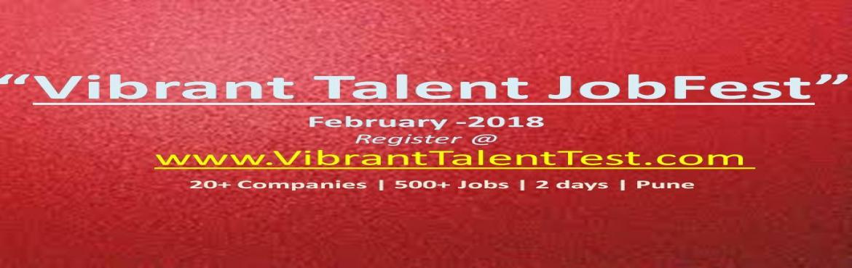 "Book Online Tickets for Vibrant Talent JobFest- 2018, Pune. AlmaMapper Technologies, Pune Organizing ""Vibrant Talent JobFest""on6th& 7thFebruary, 2018 Golden opportunity for BE (IT/Comp/ETC), MCA – 2018, 2017, 2016 batches!!500+ Jobs|"