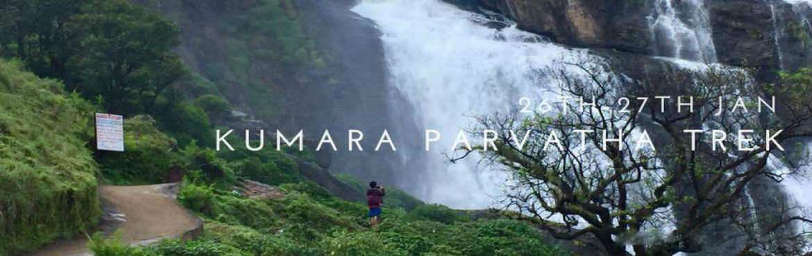 Book Online Tickets for Kumara Parvatha Trek, Bengaluru.  Kumara Parvatha is the highest peak in the Pushpagiri wildlife sanctuary which is a home to animals like elephants and tigers. Malalli Waterfalls is very close to our homestay, with walking distance of 2.5 kms. Shanthamallikarjuna temple offers