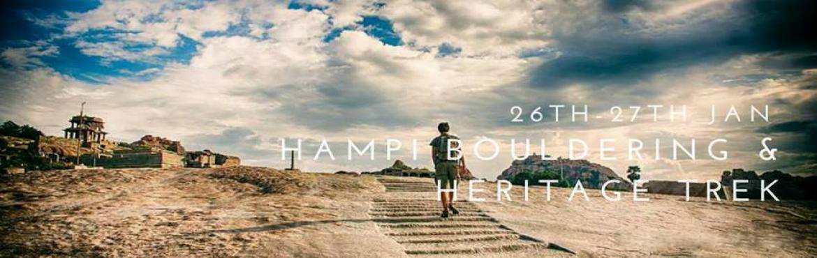 Book Online Tickets for Hampi Bouldering Heritage trek, Bengaluru. Hampi is 364 kms from Bangalore, hence making it a great Bangalore Weekend Getaway Destination not only for the heritage exploration but also for the bouldering amidst the natural rocks. We will linger upon the music and songs played by the world tou